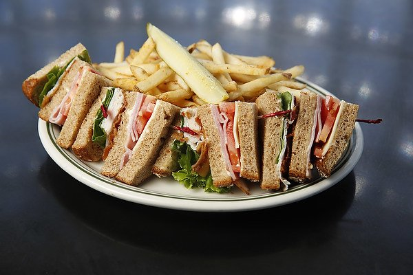 Gunther Toody's double decker sandwich